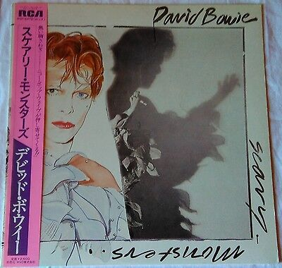 *** David Bowie - Scary Monsters *** Japan Obi Lp 12""