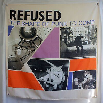 """Authentic REFUSED Band Shape of Punk To Come Fabric Poster Flag 46"""" by 48"""" NEW"""