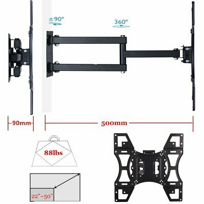 "22-55"" inch 40kg LCD LED Plasma TV Tilt Swivel Pivot Corner Wall Mount Bracket"