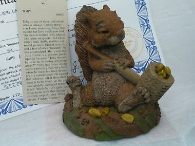 "Tim Wolfe Squirrel with Pipe""Toby"" with COA & Story Card"