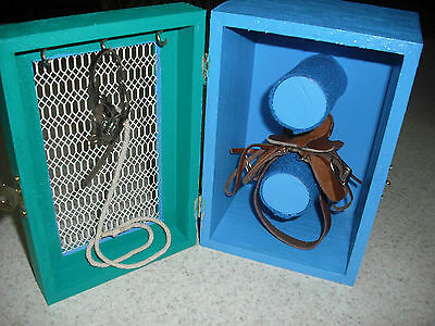 Painted Wooden Saddle / Tack Box - Great for Breyer / Model Horse - Mesh Front