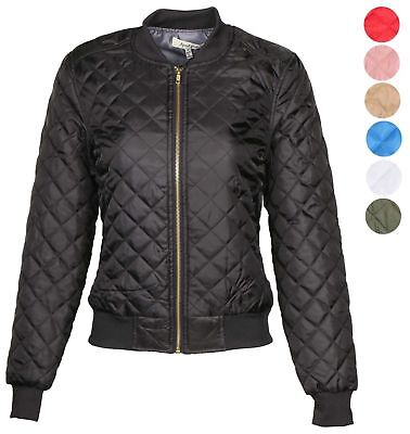 AG Women's Quilted Bomber Jacket Lightweight Packable