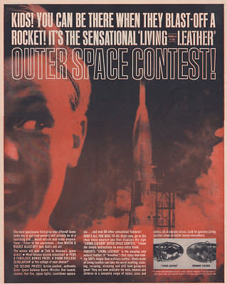 1961 Living Leather Shoes: Outer Space Contest (30169) Print Ad