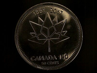 2017 Canada 50 Cents 1867-2017 150Th Anniversary Coin