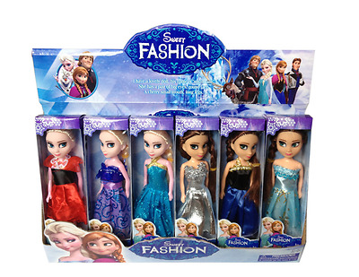 Kid's Girl's Toy 2pcs Frozen Princess Figures Children Baby Playset Lovely Doll