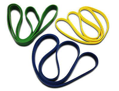 Set Of 3 Heavy Duty Resistance Power Bands Loop Lifting Body Strength Workout