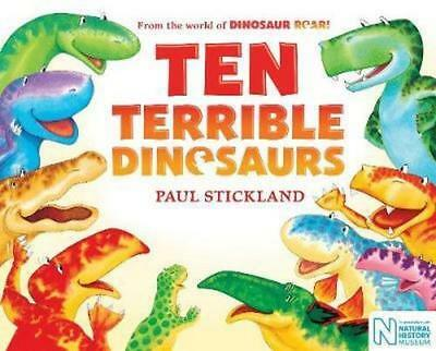 NEW Ten Terrible Dinosaurs By Paul Stickland Paperback Free Shipping
