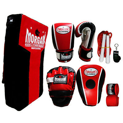 Boxing Training Pack Strike Shield Bag Mitts Focus Pads Hand Wrap Rope Mma Kick