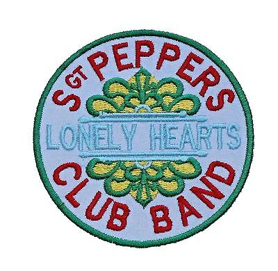 The Beatles Sgt Peppers Lonely Hearts Club Band Logo Embroidered Patch