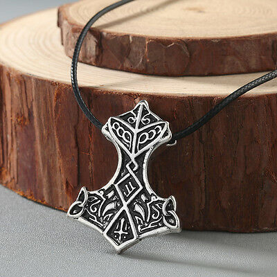 Men Necklace Odin 's Symbol of Norse Viking Warriors Mammen Axe Pendant Jewelry