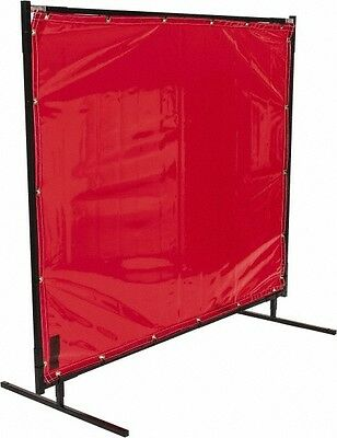Steiner Transparent Welding Curtain Height with frame 6x6 Red or Orange
