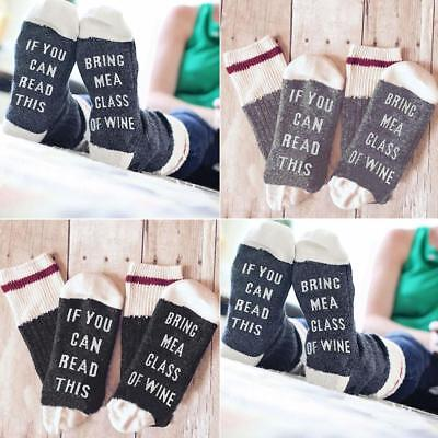 if you can BRING ME A GLASS OF WINE English and male cotton medium socks HOT DG