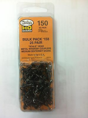 "KADEE #150 Couplers Bulk Pack #158's 25 Pair  ""Whisker""  Scale Head"