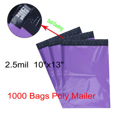 1000 10x13 PURPLE Poly Mailers Shipping Envelopes Couture Boutique Quality Bags
