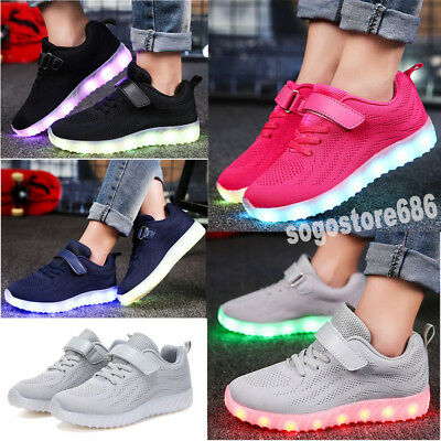7 Colors Children Kids Boys Girls LED Light Up Shoes Luminous Casual Sneakers