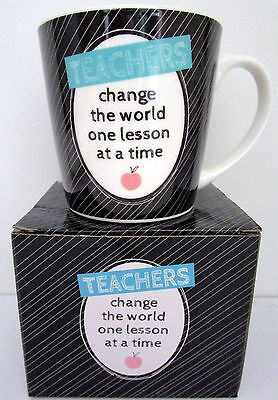 """Teacher's Gift """"teachers Change The World One Lesson At A Time"""" Mug In Gift Box!"""