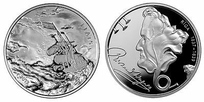 LATVIA 1 Lats Silver Collectible Coin. RICHARD WAGNER. 2013. Silver Proof.