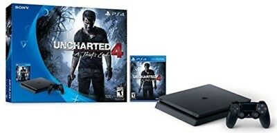 4 Console Bundle Playstation Slim 500gb Uncharted Sony Ps4 New Game End Thief