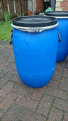 Storage Barrel 60l Drum Litre Water Butt Feed Bin Vortex Dust Commanders