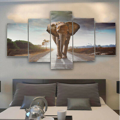 Modern Large Abstract Elephant Canvas Print Art Picture Home Wall Decor Unframed
