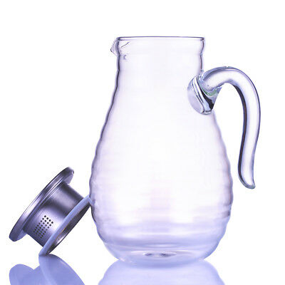 New 1.8L Glass Juice Beverage Drink Cup Decorative Party Club Water Decanter