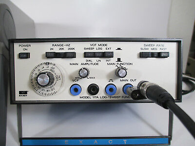 EXACT ELECTRONICS MODEL 117A LOG / SWEEP FUNCTION GENERATOR Low Distortion