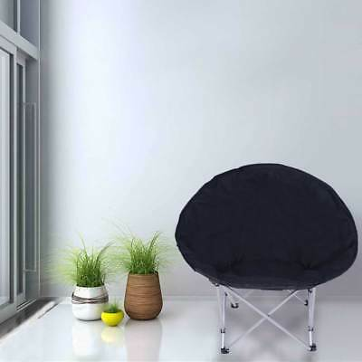 Portable Moon Chair Oval Round Papasan Outdoor Seat Picnic Fishing Camping Stool