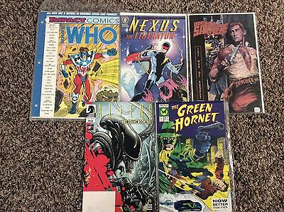 Lot of comic books, Who's Who, Nexus liberator, Doc Savage, Green Hornet, Aliens