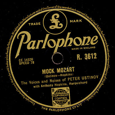 PETER USTINOV (Voices & Noises)  Mock Mozart / Phoney Folk-Lore    78rpm   S7770