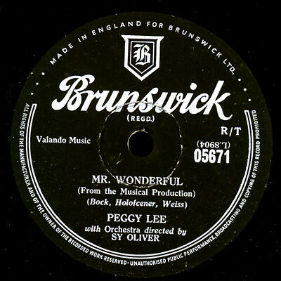 PEGGY LEE Mr. Wonderful /& SAMMY DAVIS ! The Gypsy with Fire in his Shoe S9690