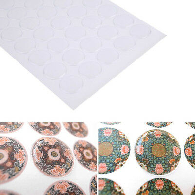 300Pcs Dome Circle Clear Epoxy Stickers For Bottle Cap 2Mm Thickness Selling