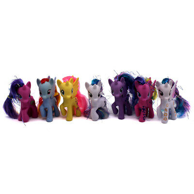 7pcs My Little Pony Friendship is Magic Princess Luna Celes Dash PVC Figures Toy