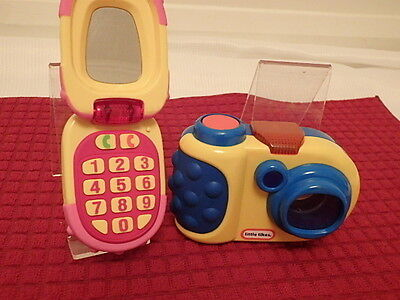 Little Tikes Discover Sounds Camera & Discover Sounds Mobile Cell Phone + Mirror