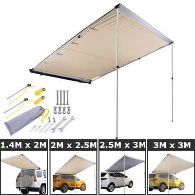 Car Side Awning Roof Rack Top Cover Tent Pull Out Camping Shade Outdoor 4X4 4WD