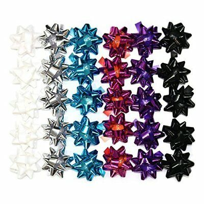 3cm Assorted Colour Christmas Xmas Self Adhesive Gift Present Bows - 30 Pack