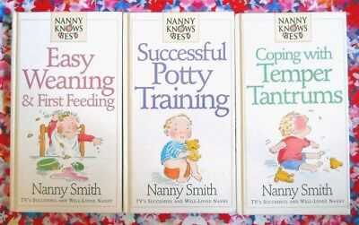 3 Nanny Knows Best Books (Weaning / Potty Training / Temper Tantrums)
