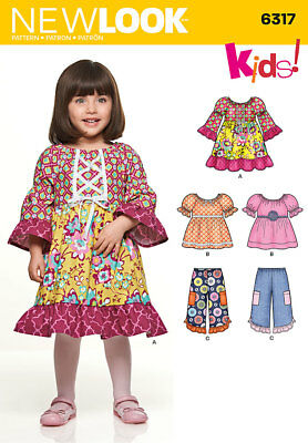 New Look Childrens Sewing Dress Pattern 6317 Girls Dress Trousers casual wear