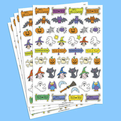Halloween Stickers Card Crafts Colourful Adhesive Paper Over 200 Stickers