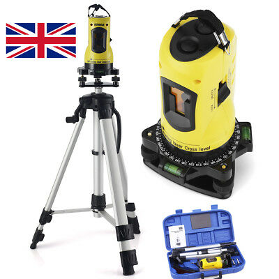 360° Rotary Laser Level Self-Levelling Cross Line Measuring Tripod Stand & C