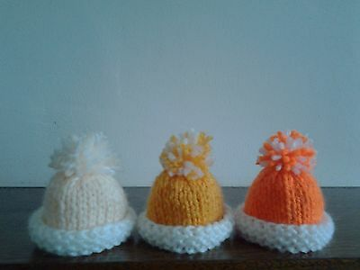 Hand Knitted Egg Cosies.