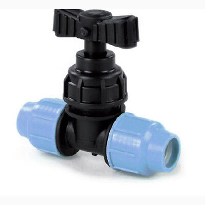 MDPE Compression Stop Cock Stop Tap for Water Pipe Blue Plastic Polypipe mdpe