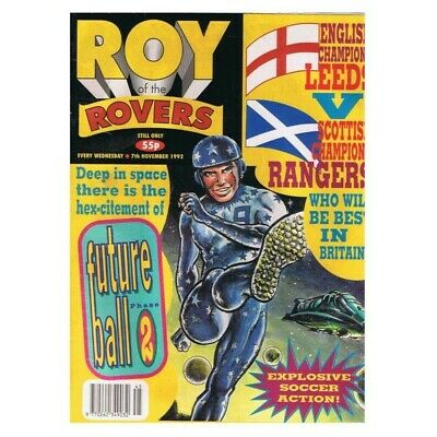 Roy of the Rovers Comic November 7 1992 MBox2798 Future Ball Phase 2 - Leeds v R