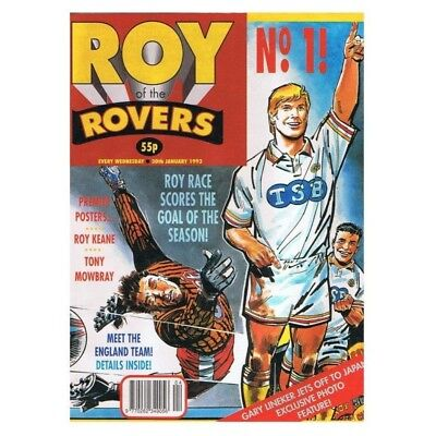 Roy of the Rovers Comic January 30 1993 MBox2798 Roy Race scores the goal of the