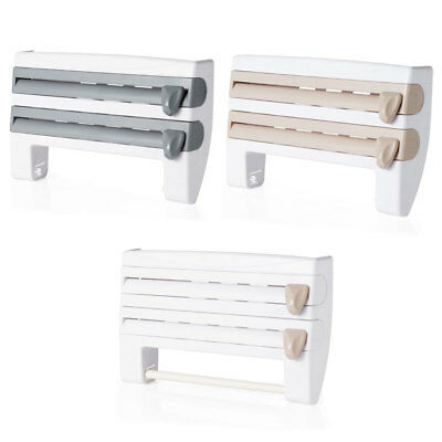 HOT 1* Kitchen Roll Dispenser Cling Film Tin Foil Towel Holder Rack Wall Mounted
