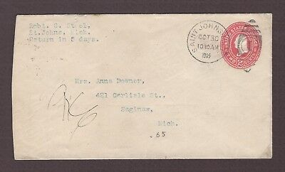 mjstampshobby 1905 US Vintage Cover Used (Lot4769)