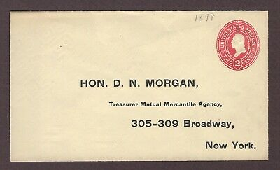 mjstampshobby 1899 US Famous Hon D N Morgan Vintage Cover Unused (Lot4798)