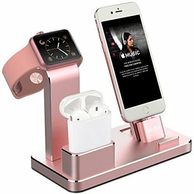 Apple Charging Stand For Apple Watch iPhone AirPods Dock Holder Aluminium Pink