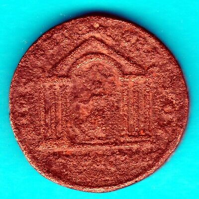 N:203  Bronze Philippe Nisibe Tyche  Temple Poids 16,01 g Module 29 mm