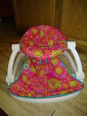 Fisher Price Sit-Me-Up Floor Seat Girl Pre owned