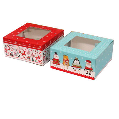 Christmas Food Gift Boxes, Sweets, Snacks, Treats and Cakes, Pack of 4